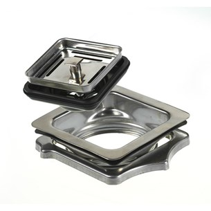Reginox Square Chrome Waste Adapter Suitable For Texas Range Sinks
