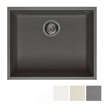 Reginox Quadra 105 Granite Single Bowl Undermount Kitchen Sink & Waste Kit - 540 x 440mm
