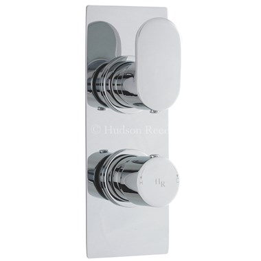 Hudson Reed Reign Square Twin Concealed Thermostatic Shower Valve & Diverter