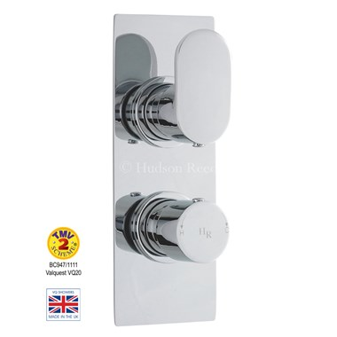 Hudson Reed Reign Square Twin Concealed Thermostatic Shower Valve