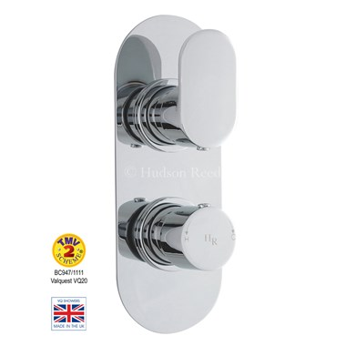 Hudson Reed Reign Round Twin Concealed Thermostatic Shower Valve