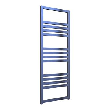 Reina Bolca Blue Satin Aluminium Heated Ladder Towel Radiator - 1200 x 485mm