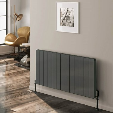 Reina Casina Single Panel Horizontal Designer Radiator - Anthracite - 600 x 470mm