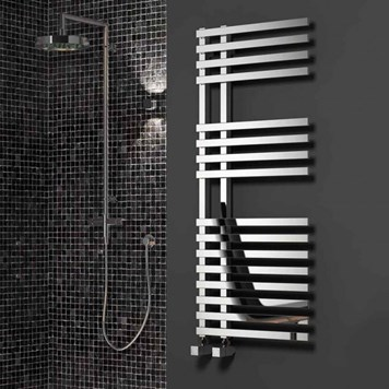Reina Felino Bathroom Straight Chrome Heated Towel Rail Radiator