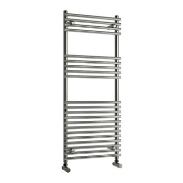 Reina Pavia Bathroom Round Chrome Heated Towel Rail Radiator