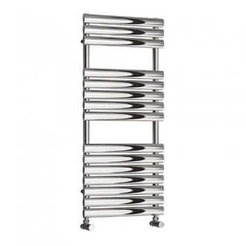 Reina Helin Polished Stainless Steel Bathroom Heated Towel Rail Radiator