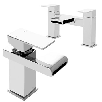 Vellamo Relate Waterfall Basin Mixer & Bath Filler Pack