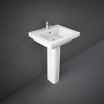 RAK Resort 1 Tap Hole Basin & Full Pedestal