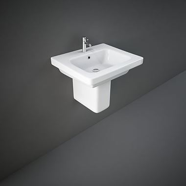 RAK Resort 1 Tap Hole Basin & Semi Pedestal