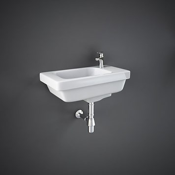 RAK Resort Wall Hung Small Cloakroom Basin 450mm
