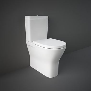 RAK Resort Maxi Comfort Height Rimless Fully Back to Wall Close Coupled Toilet & Seat