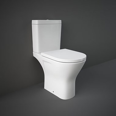 RAK Resort Maxi Comfort Height Rimless Close Coupled Toilet & Seat