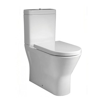 RAK Resort Mini Rimless Fully Back to Wall Close Coupled Toilet & Soft Close Seat