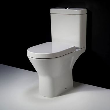 RAK Resort Mini Close Coupled Rimless WC Toilet Pan & Soft Close Seat