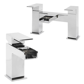 Vellamo Reve Basin Mixer & Bath Filler Value Pack
