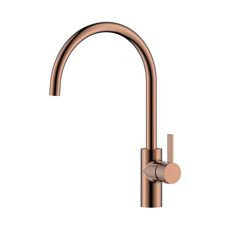 Just Taps Rose Gold Single Lever Kitchen Sink Mixer Tap Tap Warehouse