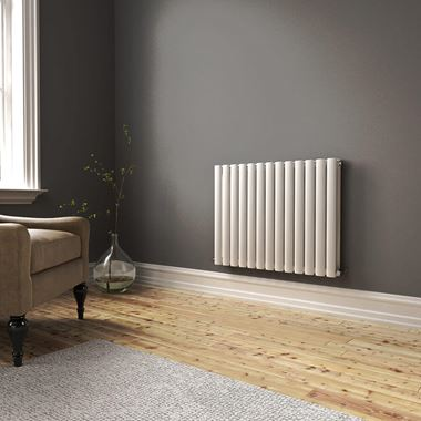 Brenton Oval Double Panel Horizontal Radiator - 600 x 770mm