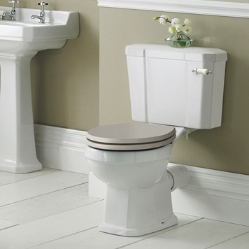 Butler & Rose Catherine Traditional Close Coupled Toilet (Excluding Seat)