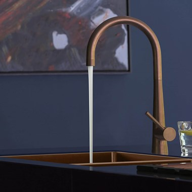 Caple Ridley Single Lever Mono Kitchen Mixer - Copper