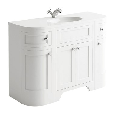 Butler & Rose Charlotte 1200mm Floorstanding Vanity Unit & Basin - Arctic White