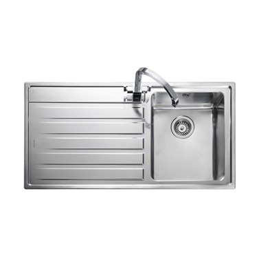 Rangemaster Rockford Single Bowl  Stainless Sink - Left Hand Drainer