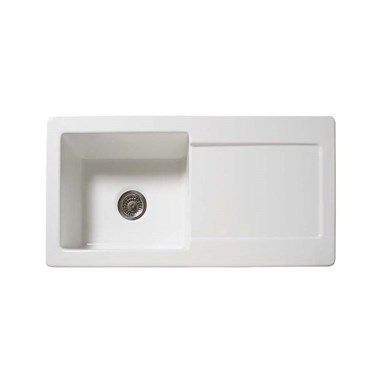 Reginox Contemporary 1 Bowl White Ceramic Kichen Sink
