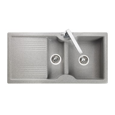 Rangemaster Lunar 1.5 Bowl Neo-Rock Grey Sink & Waste Kit with Reversible Drainer - 985 x 508mm