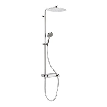 Crosswater Ethos Exposed Thermostatic Shower Valve With fixed Head and Single Mode Hand Set