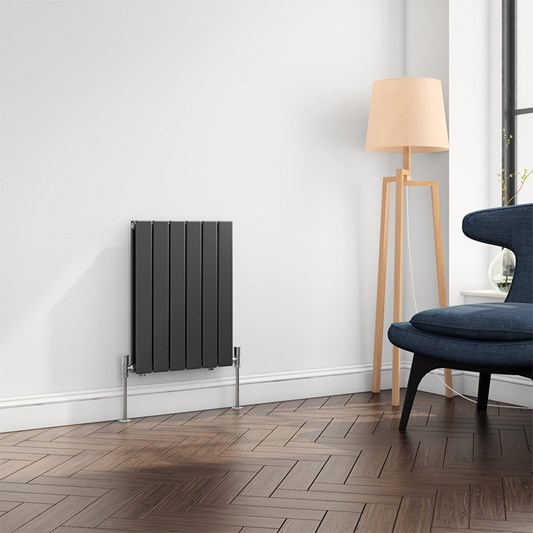 Reina Flat Panel Horizontal Designer Radiator - Anthracite - 600 x 440mm