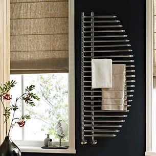Reina Nola Designer Steel Bathroom Heated Towel Rail Radiator - 1400 x 600mm