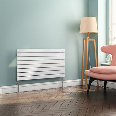 Brenton Ruby Flat Panel Horizontal Designer Radiator - White - 550x1000
