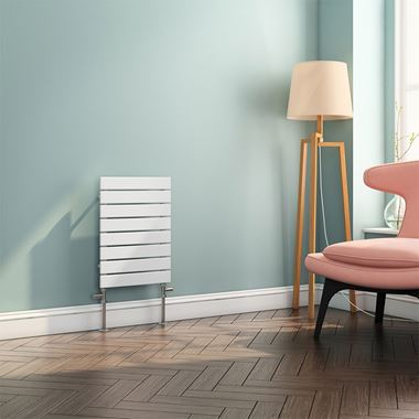 Brenton Ruby Flat Panel Horizontal Designer Radiator - White - 550x400