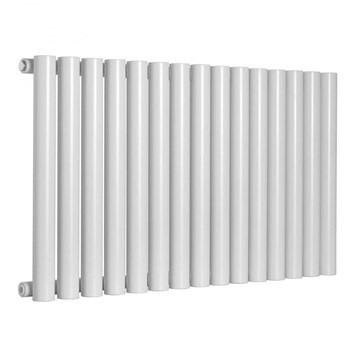 Reina Sena Single Panel Horizontal Designer Steel Radiator - White