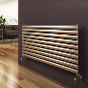 Reina Artena Single Panel Horizontal Designer Stainless Steel Radiator - Satin