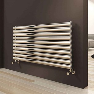 Reina Artena Single Panel Horizontal Designer Stainless Steel Radiator - Polished