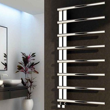Reina Celico Polished Stainless Steel Bathroom Heated Towel Rail Radiator