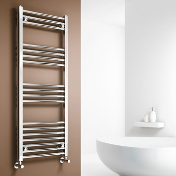 Brenton Chrome Straight Heated Towel Radiator - 22mm - 1000 x 400mm