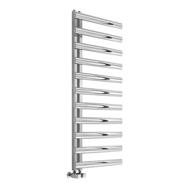 Reina Cavo Stainless Steel Bathroom Heated Towel Rail Radiator - Satin - 1230x500