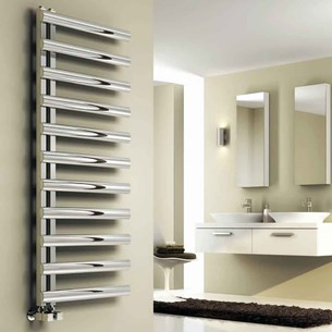 Reina Cavo Stainless Steel Bathroom Heated Towel Rail Radiator - Polished