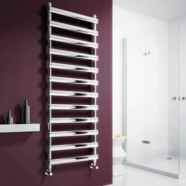 Reina Deno Stainless Steel Bathroom Heated Towel Rail Radiator - Satin
