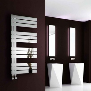 Reina Ricadi Polished Stainless Steel Bathroom Heated Towel Rail Radiator