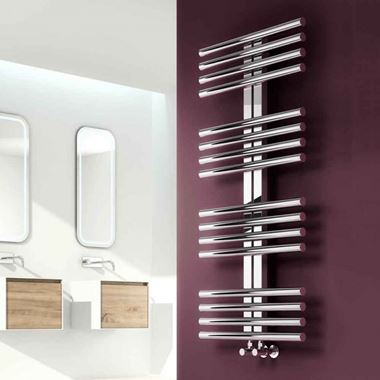 Reina Sorento Polished Stainless Steel Bathroom Heated Towel Rail Radiator - 800x600