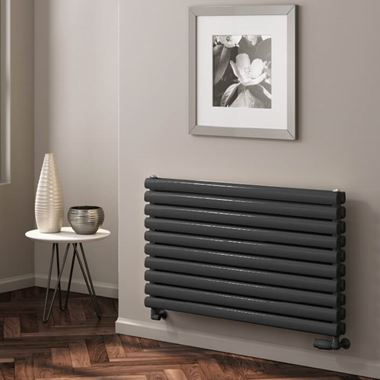 Reina Roda Horizontal Single Panel Designer Radiator - Anthracite - 590 x 1200mm