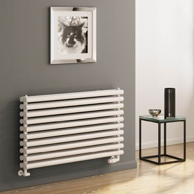 Reina Roda Horizontal Double Panel Designer Radiator - White
