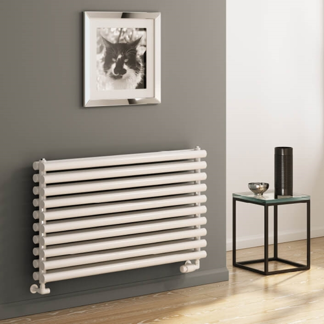 Reina Roda Horizontal Single Panel Designer Radiator - White