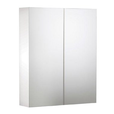 Roper Rhodes Signatures Gloss White Double Mirror Glass Door Cabinet