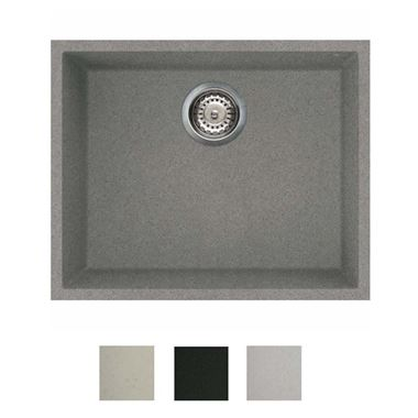 Reginox Quadra Single Bowl Granite Undermount Kitchen Sink & Waste Kit - 540 x 440mm