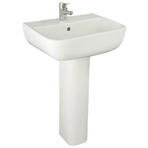 RAK Series 600 1 Tap Hole Basin with Full Pedestal 520mm