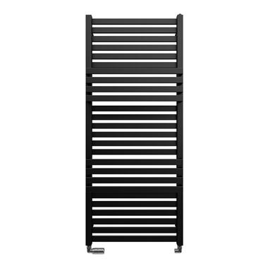 Bauhaus Seattle Towel Rail in Metallic Black Matte - 500 x 1185mm