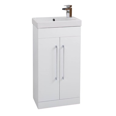 Mirage 2 Door Floorstanding Vanity Unit & Ceramic Basin